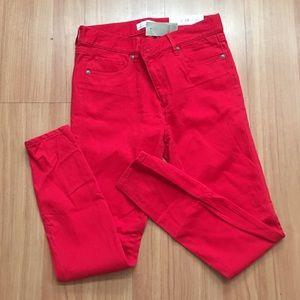 Red LOFT Legging Pants